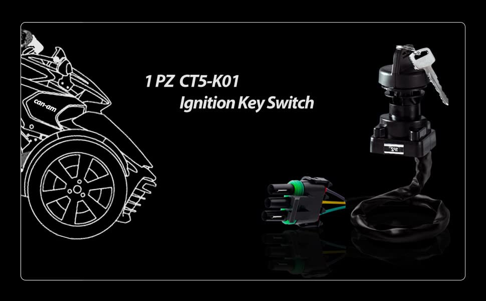IGNITION KEY SWITCH FOR BOMBARDIER CANAM TRAXTER AUTOSHIFT XT 2001 2002