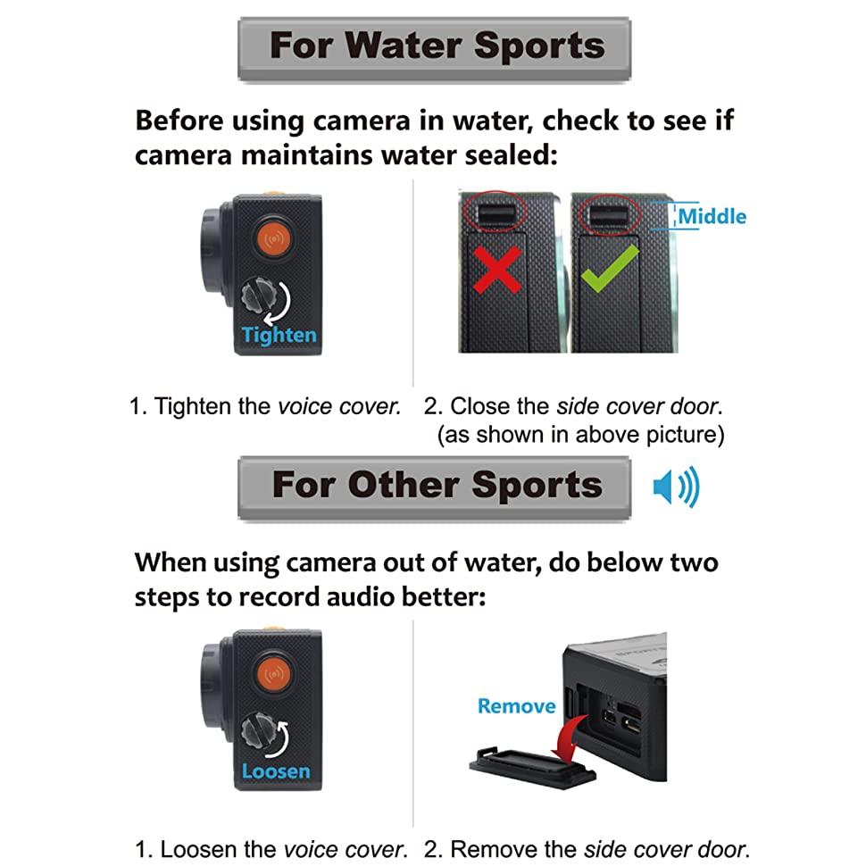 WiFi Action Camera Waterproof Cameras - 4K FHD Underwater Camera Diving  Camcorder with Accessories for Snorkeling, Motorcycle, Bike, Helmet, Car,  Ski