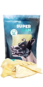 thick jumbo cow ears beef ears cattle ear dog treat chew natural dental health bully sticks