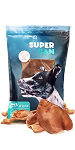 Supreme Pig Ears for dogs pork chews made in usa healthy human graded pork chews pig slivers