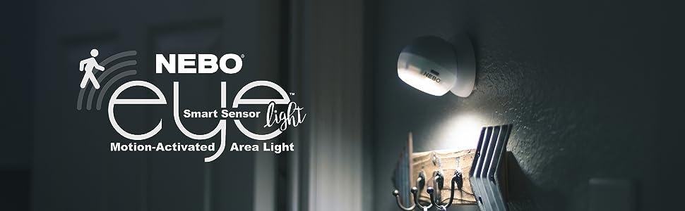 Spotlights Tools Home Improvement Outdoor Ceiling Light 2 Pack Nebo Sensor Eye 6776 Above Shower Light Closet Lighting Motion Sensor Light Battery Operated 120 Degree Sensor Motion Activated Light Great For
