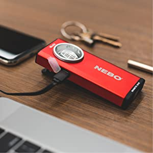 rechargeable magnetic flashlight with a clip, rechargeable pocket flashlight, pocket light, nebo