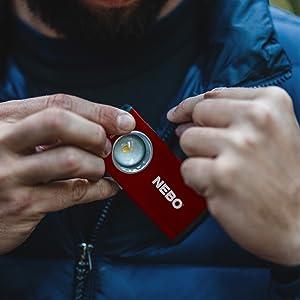 mini led flashlight, nebo slim 500 lumen pocket light, nebo magnetic flashlight, flashlight nebo