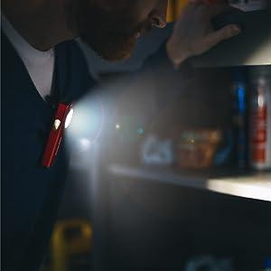 pocket flashlight 500 lumens, clip on led flashlight, flashlight led with magnet, upright flashlight