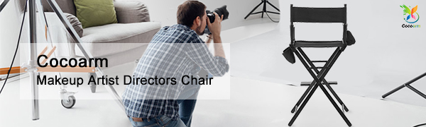 Lights, camera, action! Cocoarm makeup chair is a must-have for beauty makeup artists and motion picture directors. Built of sturdy wood and a durable black ...