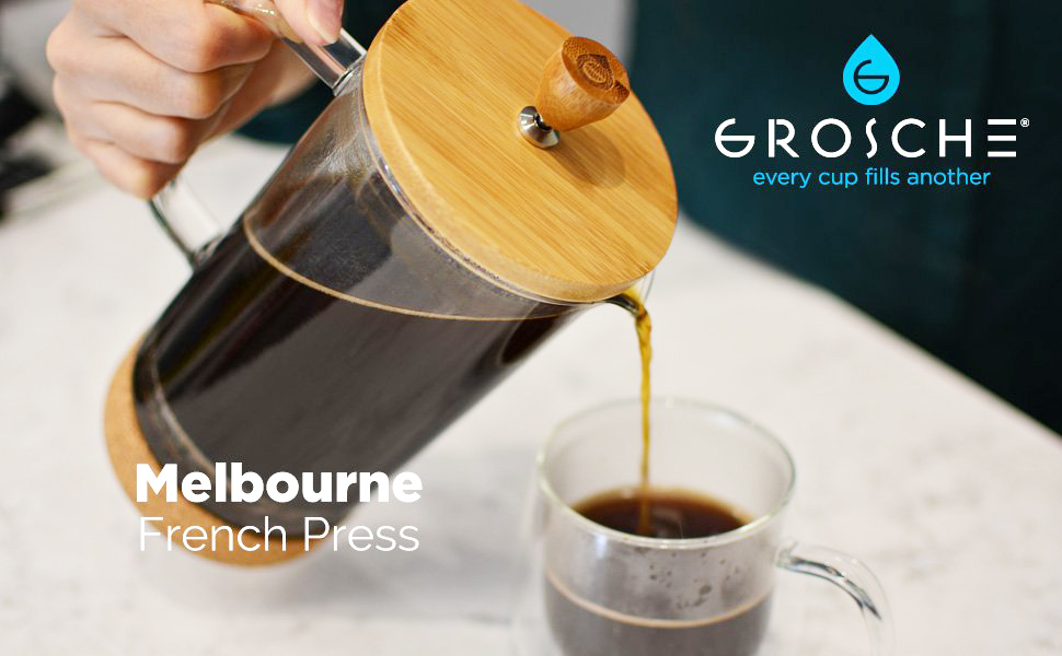 Amazon.com: Melbourne French Press Cafetera eléctrica con ...