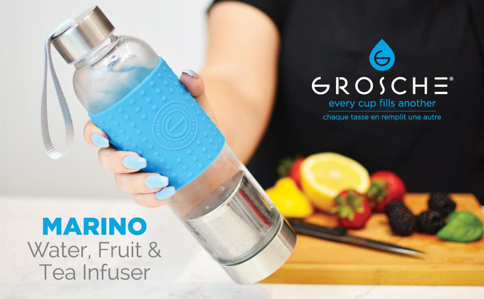 Amazon.com: GROSCHE Marino - Infusor de agua y té, botella ...