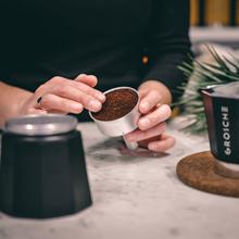 GROSCHE how to brew stovetop espresso Milano moka pot black step two