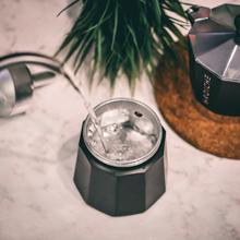 GROSCHE how to brew stovetop espresso Milano moka pot black step one