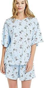 women short pajamas set
