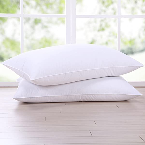 puredown goose feather and down pillow standard size bed pillows