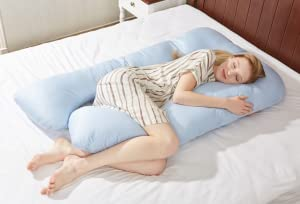 ergonomical design the puredown maternity pregnancy body pillow adjustable ushaped maternity pillow is designed to fit to the natural contours of