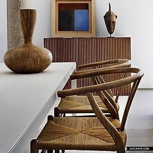 Amazon.com: 2xhome - Sillón de madera de Wishbone con ...