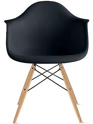 Amazon.com: 2 x Home – Sillón eames estilo – Asiento Silla ...
