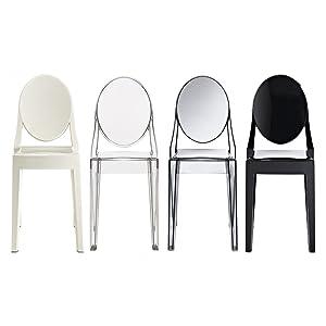 Amazon.com: Juego de 4 sillas apilables de mediados del ...