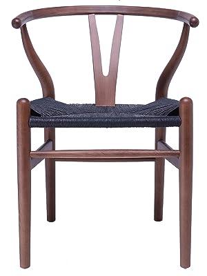 Amazon.com: 2 sillones de madera Wishbone para casa con ...