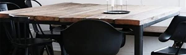 Amazon.com: Juego de 2 sillones de plástico con patas de ...
