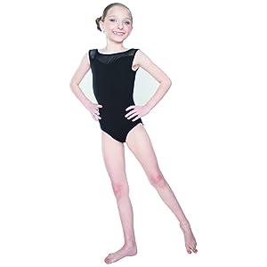 ea3765c93a71 Amazon.com  HDW DANCE Kids Girls Ballet Dance Leotard Mesh Mock Neck ...