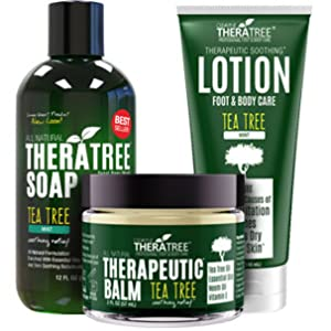 TheraTree Exfoliating Scrub with Tea Tree Oil and Bamboo Charcoal for Skin Irritation