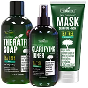 TheraTree Exfoliating Scrub with Tea Tree Oil and Bamboo Charcoal for Complexion Control