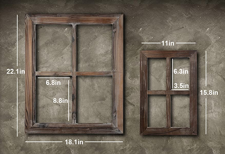 Amazon.com - Cade Rustic Wall Decor Window Barnwood Frames ...