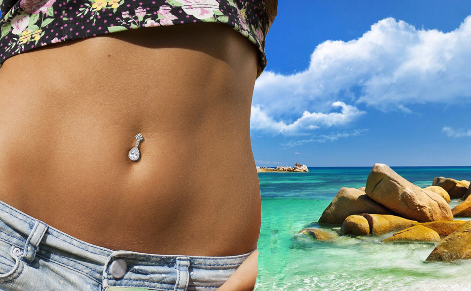 summer belly ring dangle