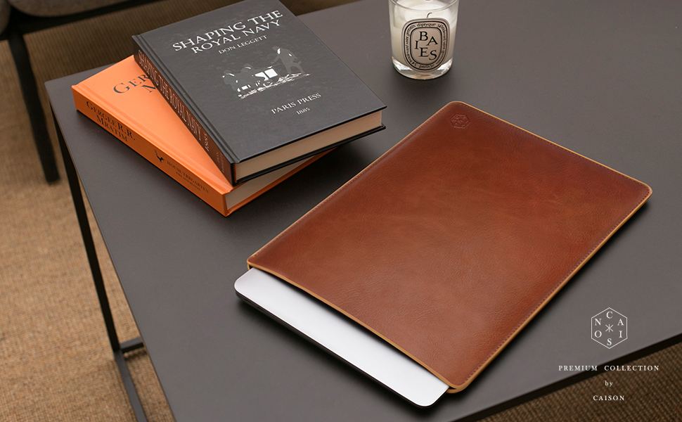 Apple Macbook 15 Touch Bar Leather Zippered Case 2018//16 Vintage Book Sleeve
