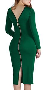 zipper back dress