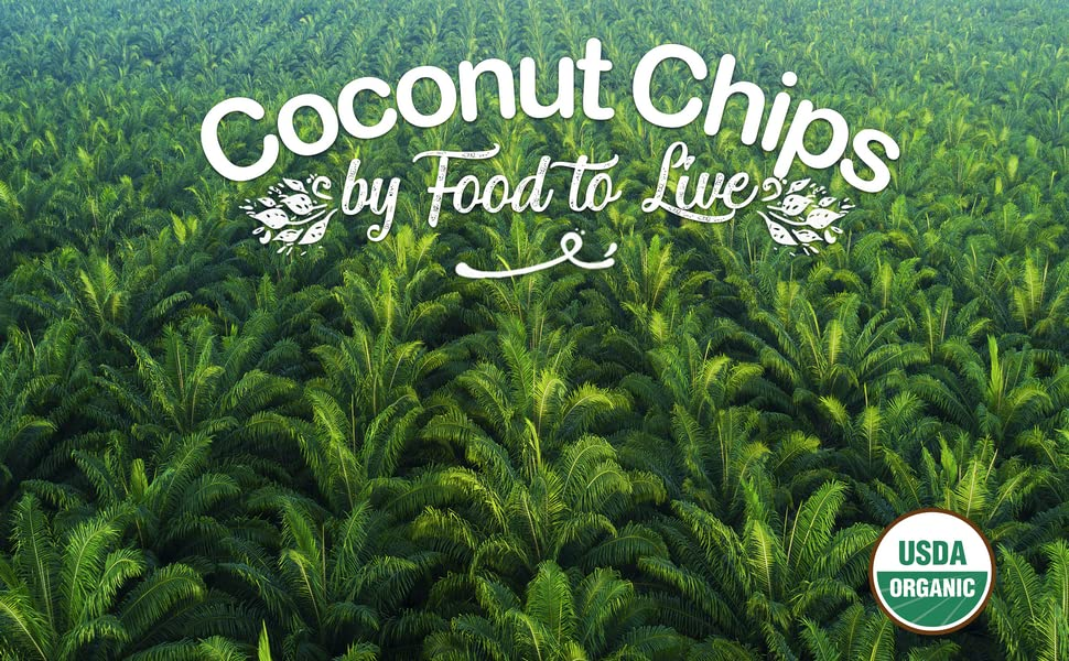 food to live, coconut chips