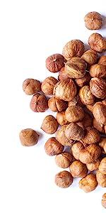 organic hazelnuts, food to live