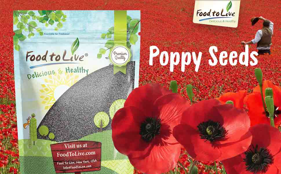 Amazon food to live poppy seeds england kosher 4 pounds the poppy seed plant originated from asia but its so resilient that today you can see some varieties of poppies blooming almost everywhere mightylinksfo
