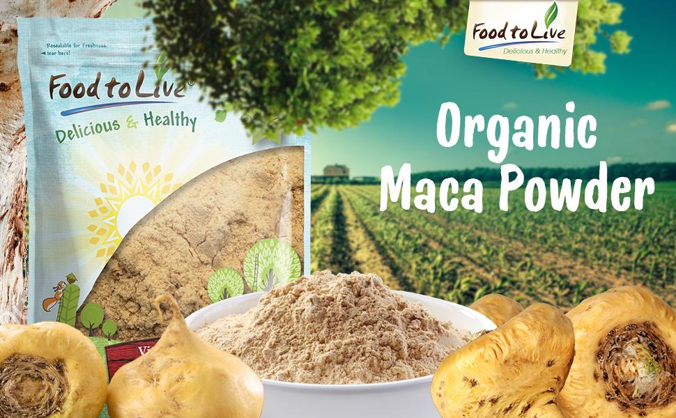 Pólvora de raíz de maca orgánica, certificado Food to Live ...