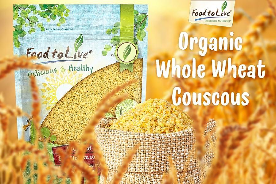 Cusco de trigo completo orgánico por Food to Live (Non-GMO ...