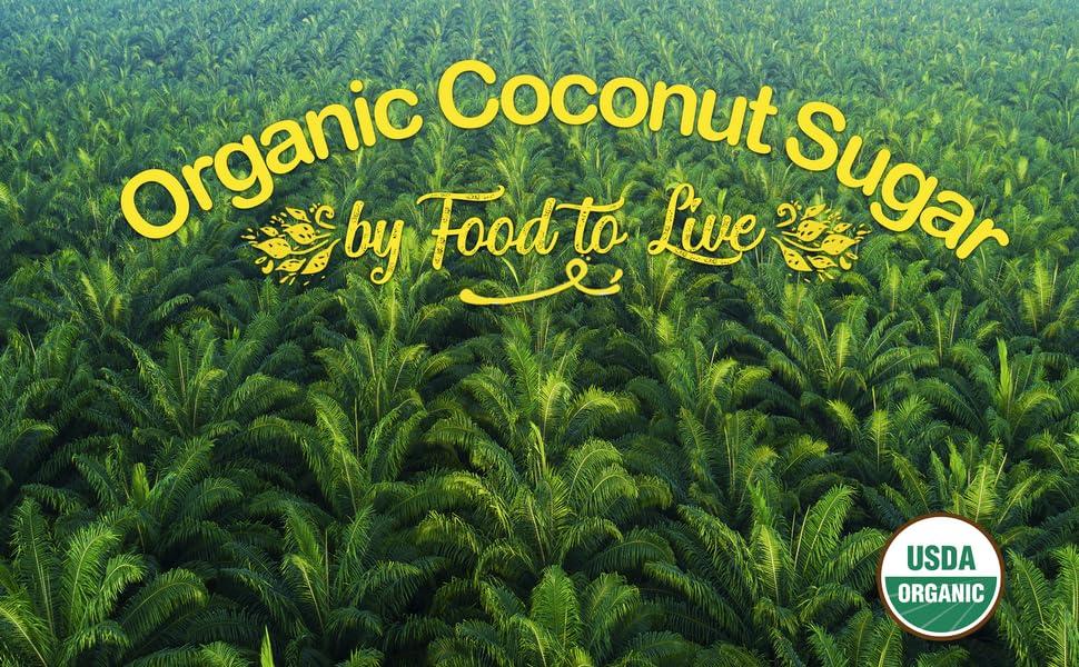 food to live, coconut sugar