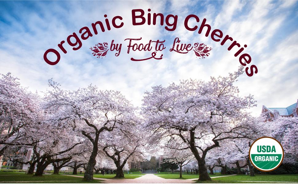 bing cherries, food to live