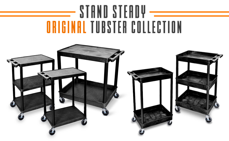 tubster, stand steady, stand steady original tubster, flat shelf tubster, two shelf tubster