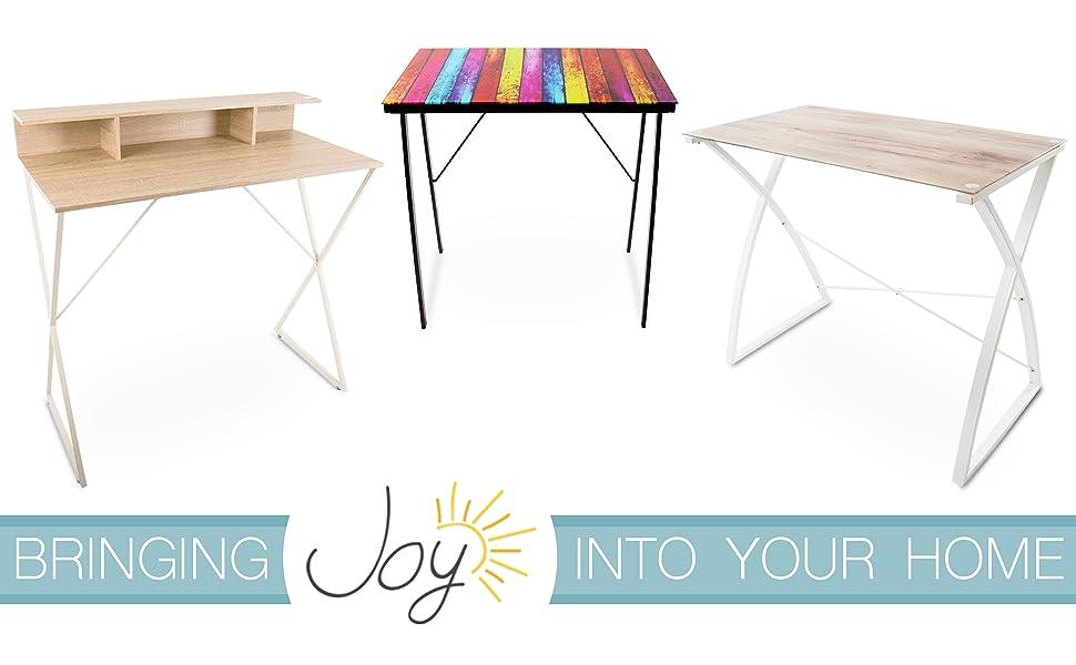 joy, stand steady, joy by stand steady, standing desk, glass top desk, metal desk, home office desk