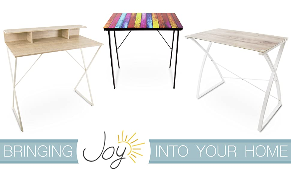 Joy Standing Desk Lrge Glass Wood Print Top Stand Steady