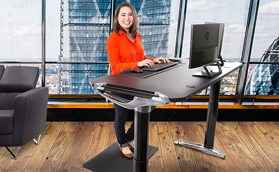 stand steady, tranzendesk, stand steady tranzendesk executive, height adjustable, sit stand desk,