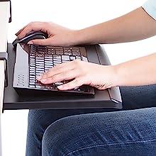 keyboard tray, sliding keyboard tray, stand steady, clamp on keyboard tray, small keyboard tray