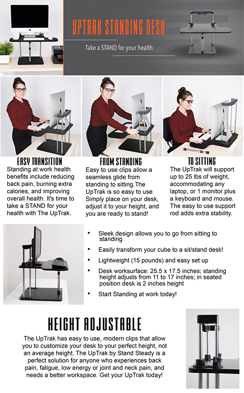 UpTrak Standing Desk Converter by Stand Steady