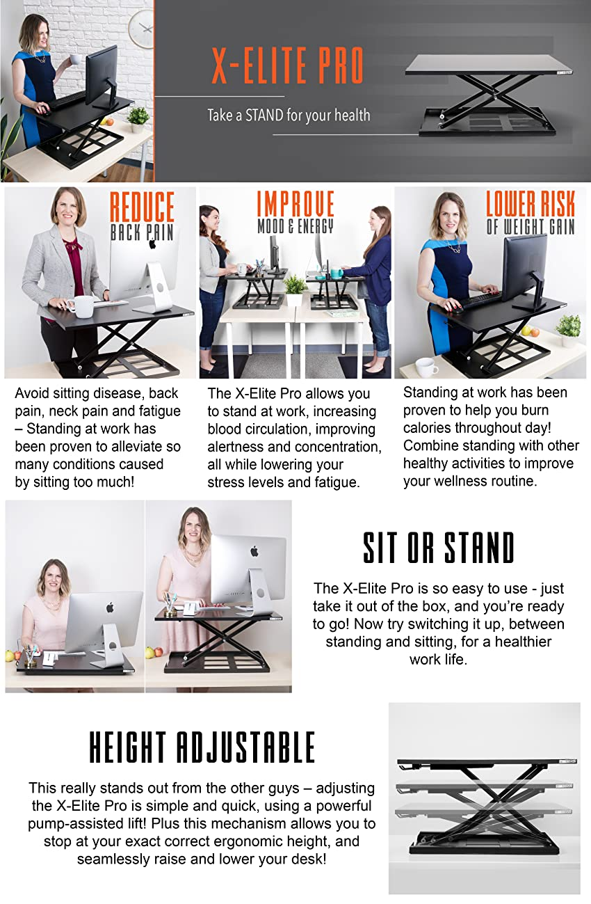 Amazon Com X Elite Stand Steady Standing Desk X Elite Pro