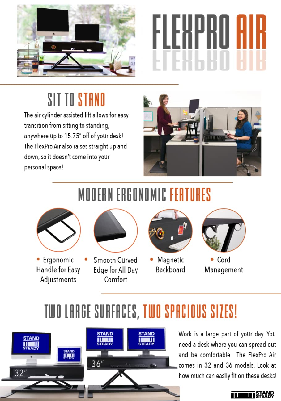 "FlexPro Air 32"" & 36"" Standing Desk"