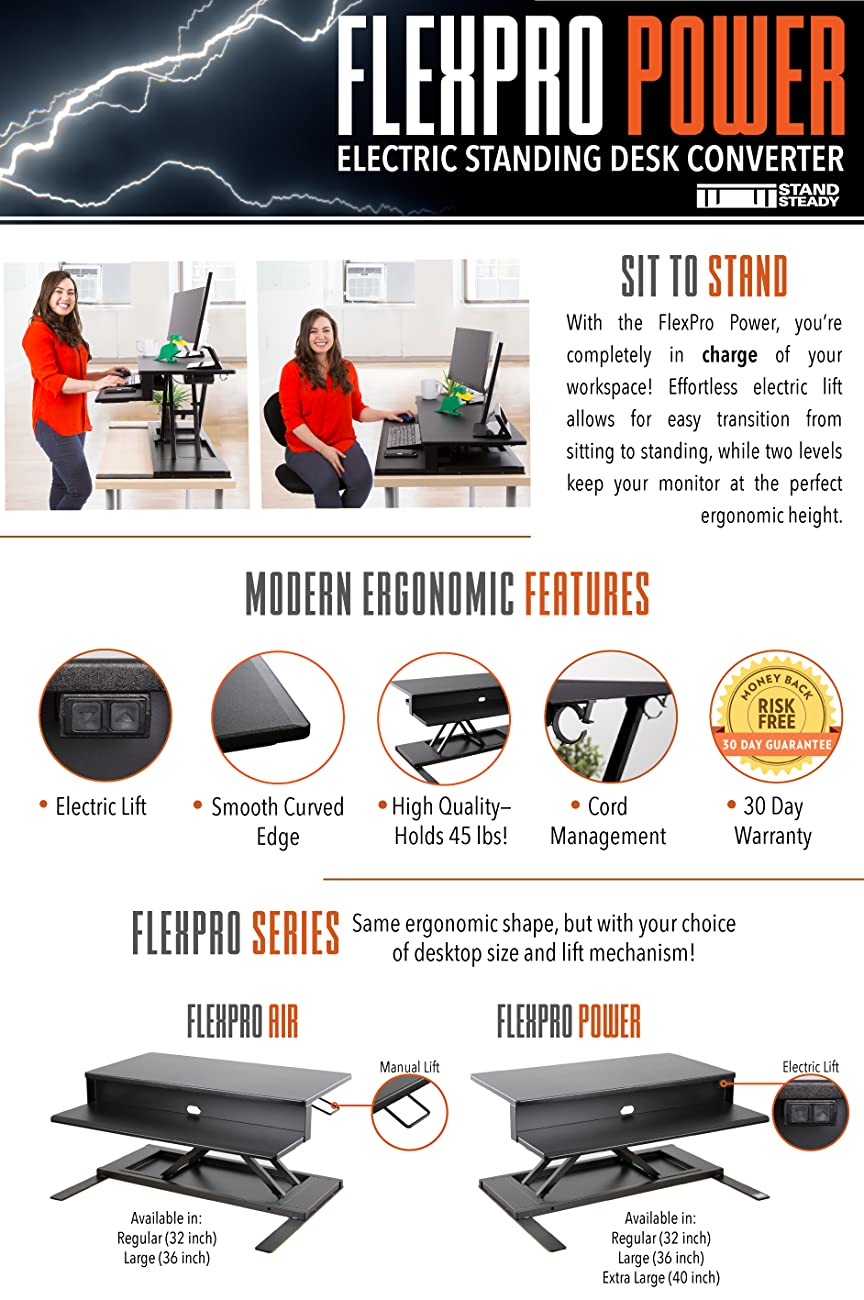 FlexPro Power Standing Desk Converter