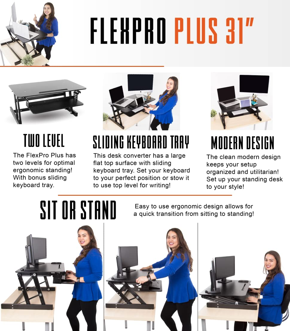 FlexPro Plus Standing Desk by Stand Steady