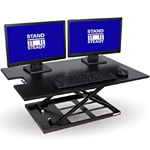 stand steady standing desk x elite pro xl x-elite xelite stand up desk sit stand desk