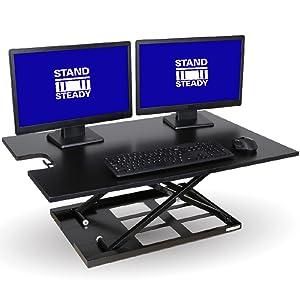 stand steady standing desk x elite pro xl x-elite xelite stand up desk sit stand desk