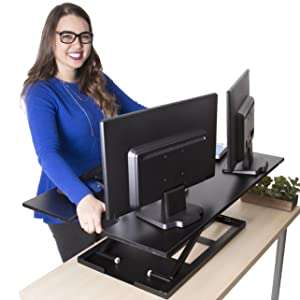 standing desk stand steady x-elite pro xl x elite larger sit stand desk