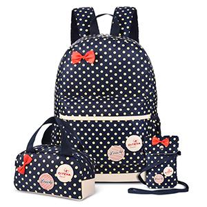 polk dots backpack