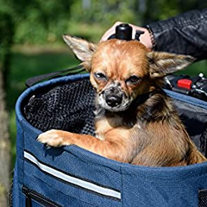 Amazon.com : Walky Basket Pet Dog Bicycle Bike Basket